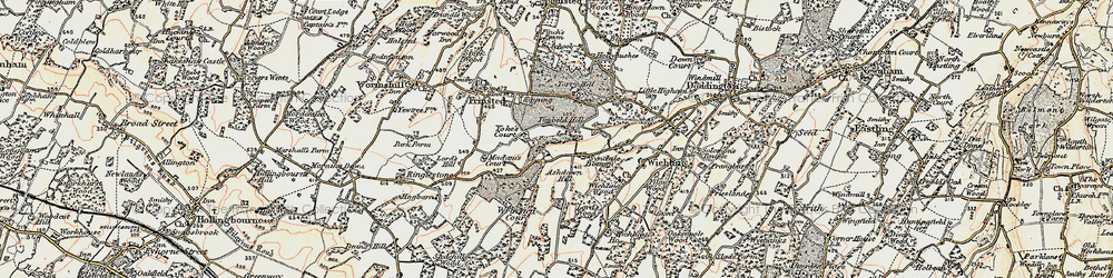 Old map of Wrinsted Court in 1897-1898