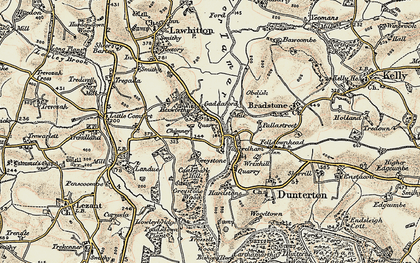 Old map of Timbrelham in 1899-1900