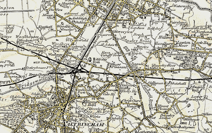 Old map of Timperley in 1903