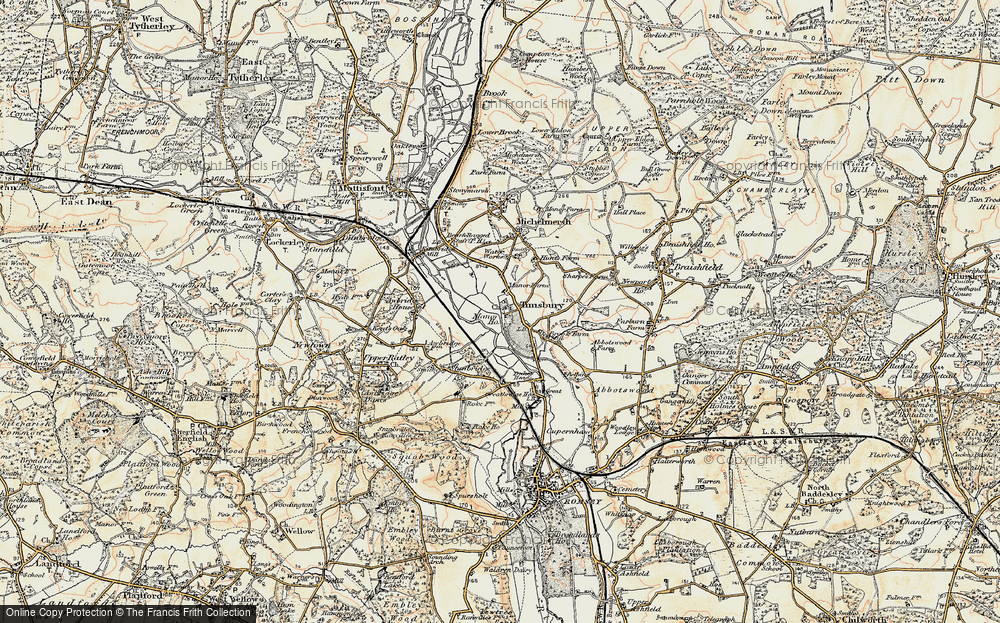 Old Map of Timsbury, 1897-1909 in 1897-1909