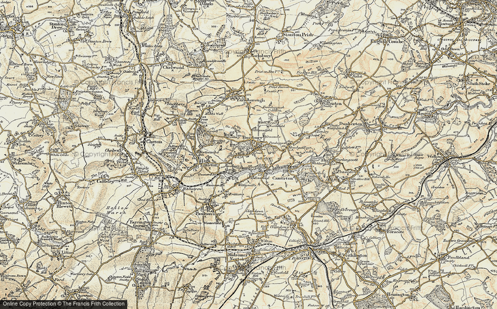 Old Map of Timsbury, 1899 in 1899