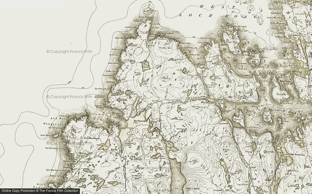 Old Map of Timsgearraidh, 1911 in 1911