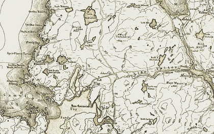 Old map of Timsgearraidh in 1911