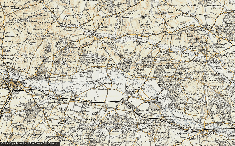 Old Map of Tincleton, 1899-1909 in 1899-1909