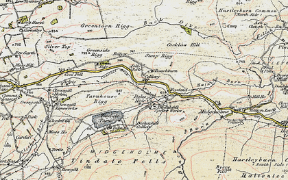 Old map of Back Dike in 1901-1904