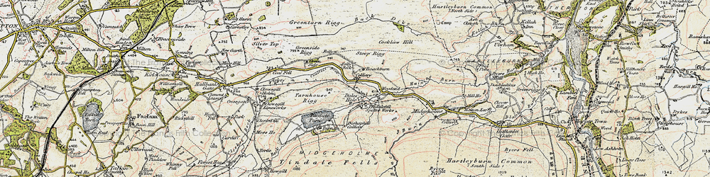 Old map of Whamoss Rigg in 1901-1904