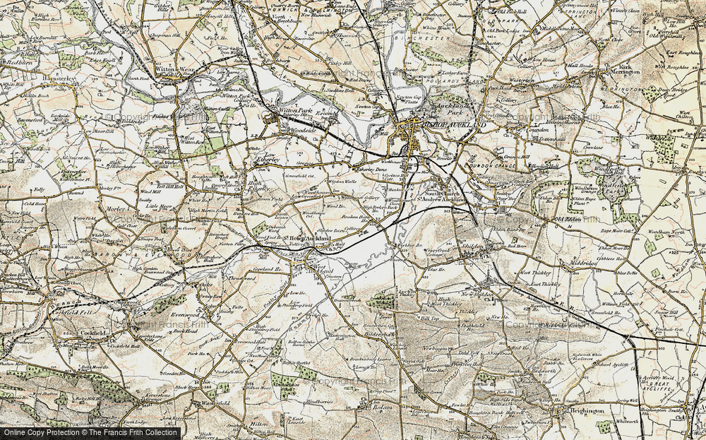 Old Map of Tindale Crescent, 1903-1904 in 1903-1904