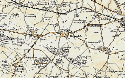 Old map of Tingewick in 1898-1899