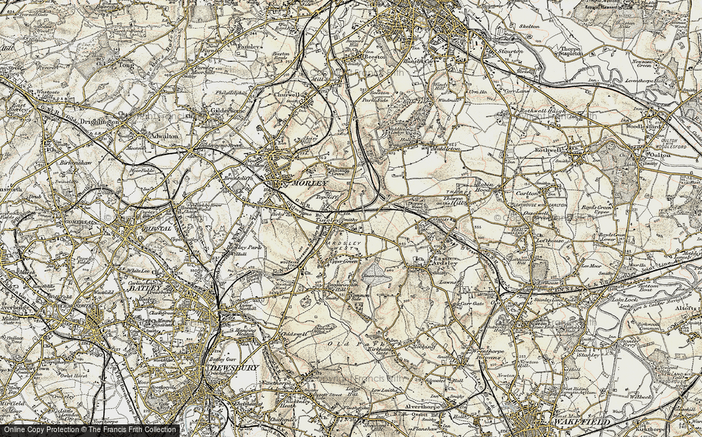 Old Map of Tingley, 1903 in 1903
