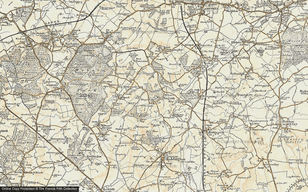 Old Map of Tingrith, 1898-1899 in 1898-1899