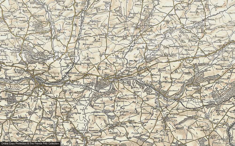 Old Map of Tinhay, 1899-1900 in 1899-1900