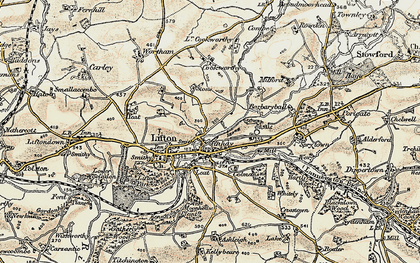 Old map of Tinhay in 1899-1900