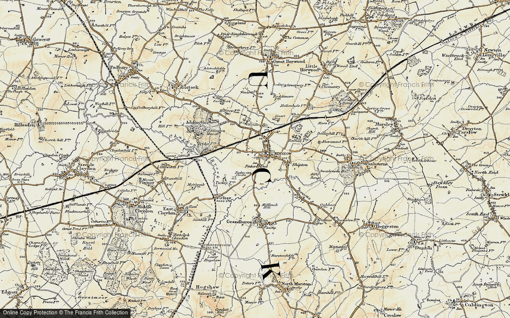 Old Map of Tinkers End, 1898 in 1898