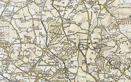 Old map of Tinshill in 1903-1904