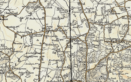 Old map of Tinsley Green in 1898-1909