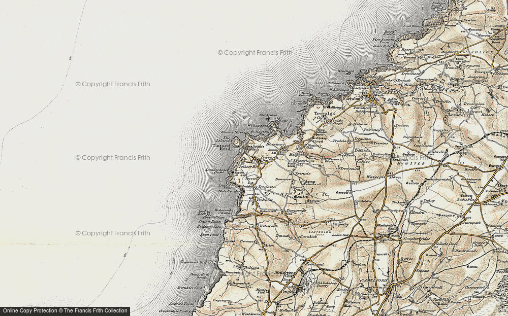 Old Map of Tintagel, 1900 in 1900