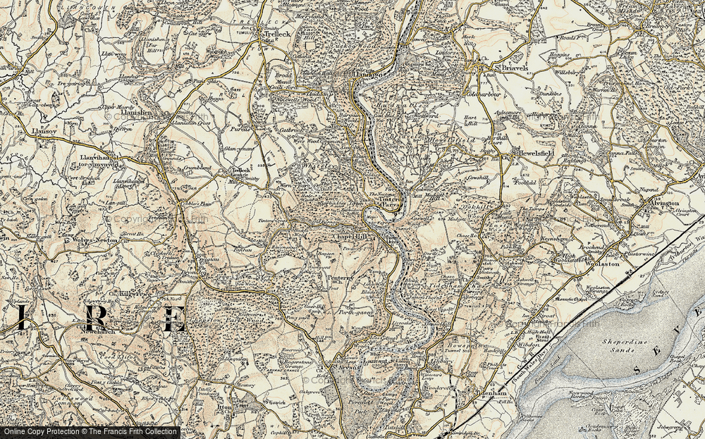 Old Map of Historic Map covering Barbadoes Hill in 1899-1900