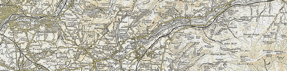 Old map of Tintwistle in 1903