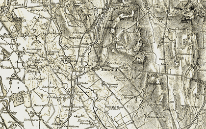 Old map of Tinwald Ho in 1901-1905