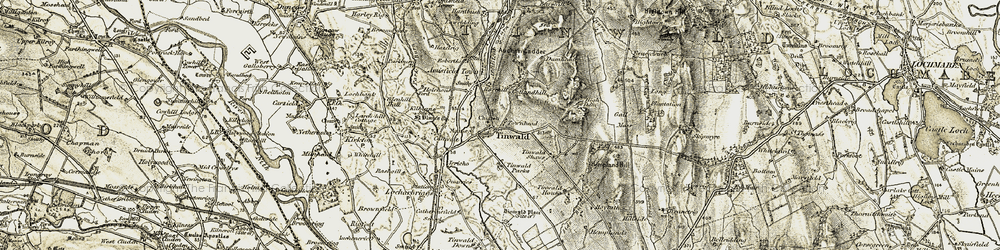 Old map of Tinwald Shaws in 1901-1905