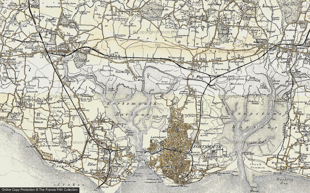 Old Map of Tipner, 1897-1899 in 1897-1899