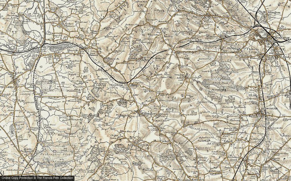 Old Map of Tipper's Hill, 1901-1902 in 1901-1902