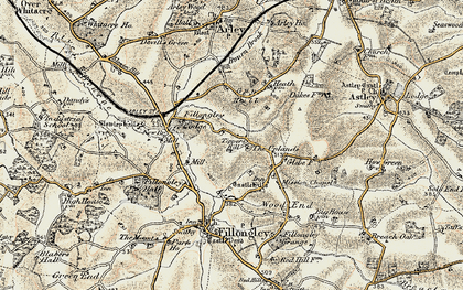 Old map of Tipper's Hill in 1901-1902
