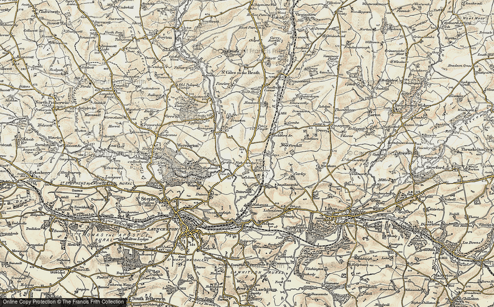 Old Map of Tipple Cross, 1900 in 1900