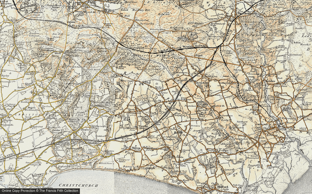 Old Map of Tiptoe, 1897-1909 in 1897-1909
