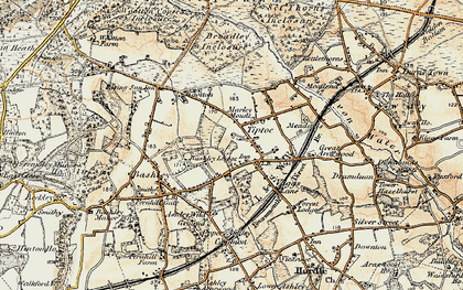 Old map of Tiptoe in 1897-1909