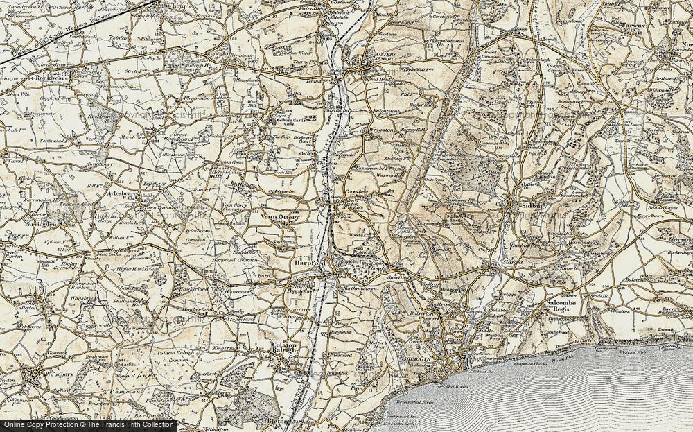 Old Map of Tipton St John, 1899 in 1899