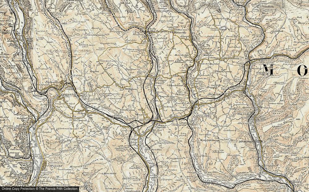 Old Map of Tir-y-berth, 1899-1900 in 1899-1900