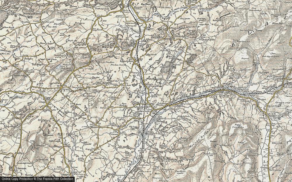 Old Map of Tir-y-dail, 1900-1901 in 1900-1901