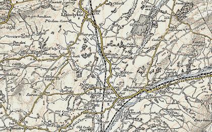 Old map of Tir-y-dail in 1900-1901