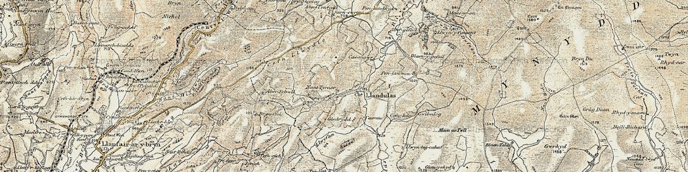 Old map of Abergefail in 1900-1902