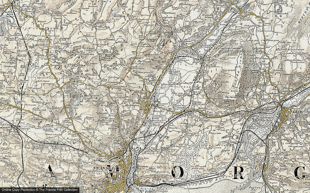 Old Map of Tircanol, 1900-1901 in 1900-1901
