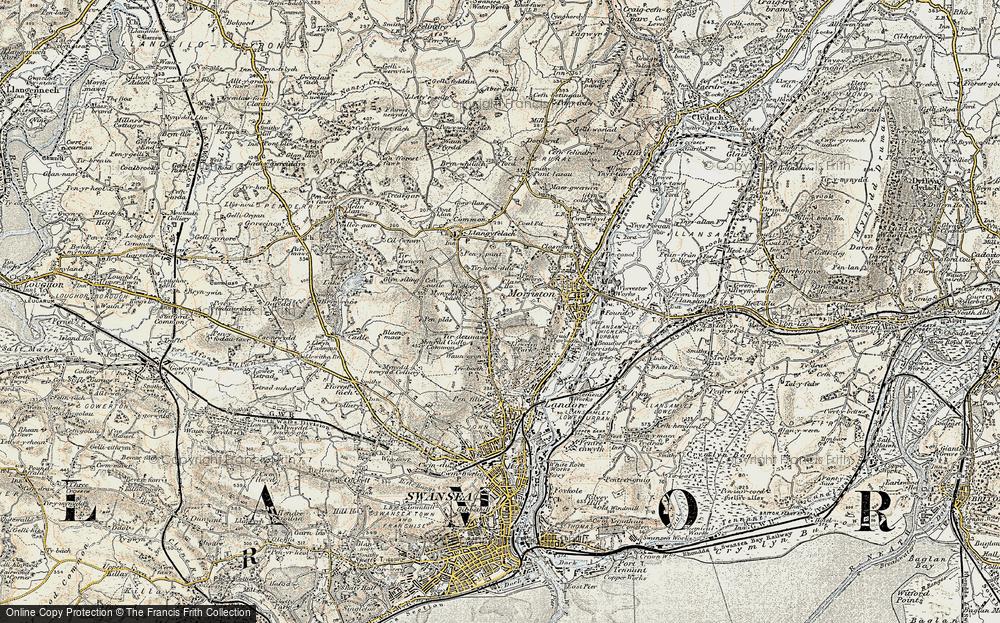 Old Map of Tirdeunaw, 1900-1901 in 1900-1901