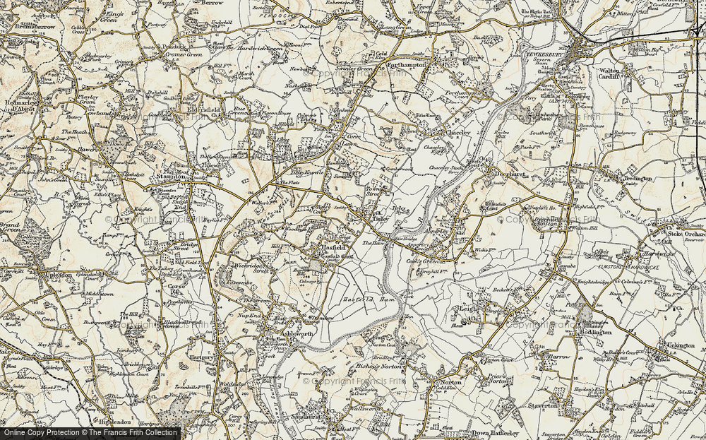Old Map of Tirley, 1899-1900 in 1899-1900