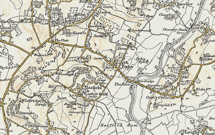 Old map of Tirley in 1899-1900