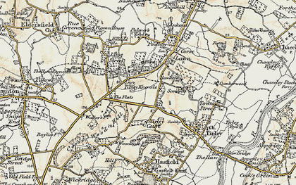 Old map of Tirley Knowle in 1899-1900