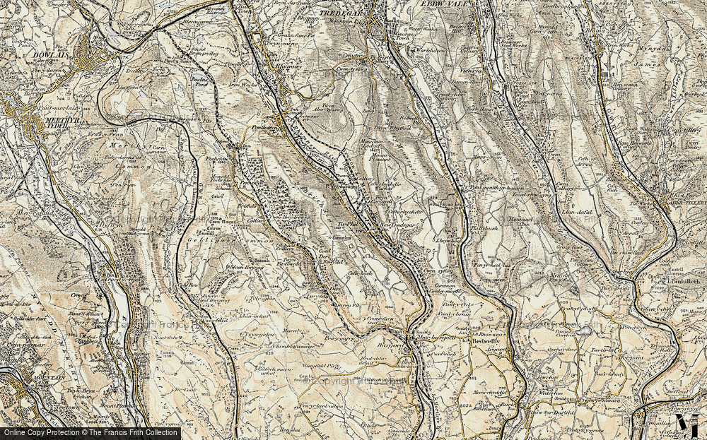 Old Map of Tirphil, 1899-1900 in 1899-1900
