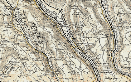 Old map of Tirphil in 1899-1900