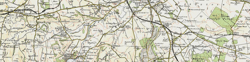 Old map of Tirril in 1901-1904