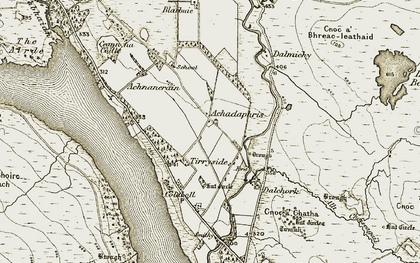 Old map of Tirryside in 1910-1912