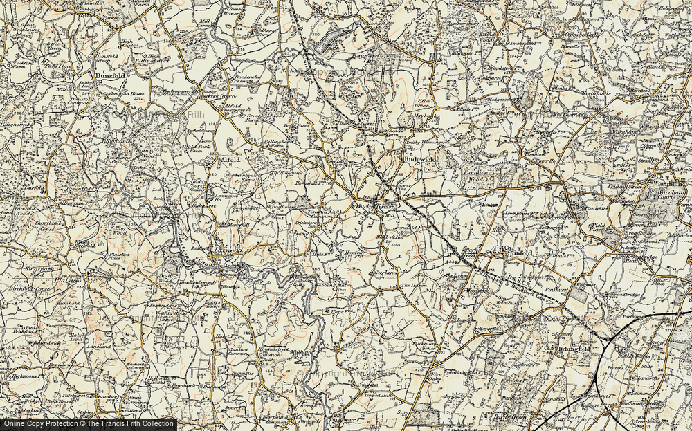 Old Map of Tisman's Common, 1897-1900 in 1897-1900