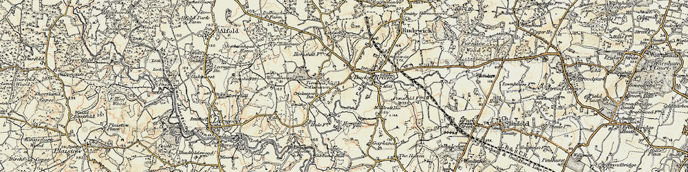 Old map of Tisman's Common in 1897-1900
