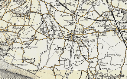 Old map of Titchfield in 1897-1899