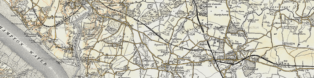 Old map of Titchfield Park in 1897-1899