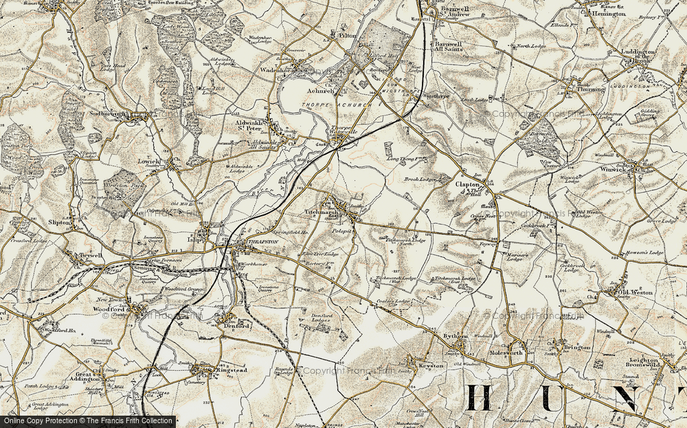Old Map of Titchmarsh, 1901-1902 in 1901-1902