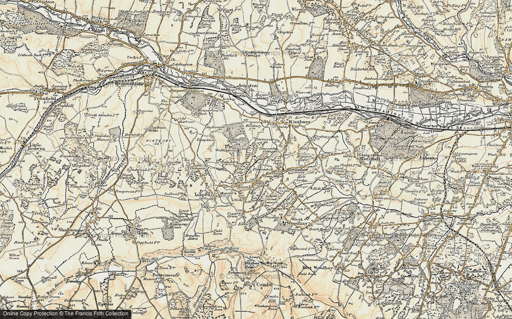 Old Map of Historic Map covering Titcomb Manor in 1897-1900
